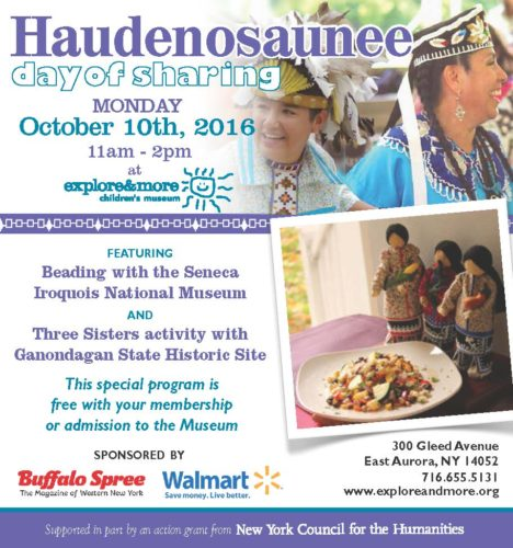 Haudenosaunee Day of Sharing 11-2, Museum OPEN 10-5