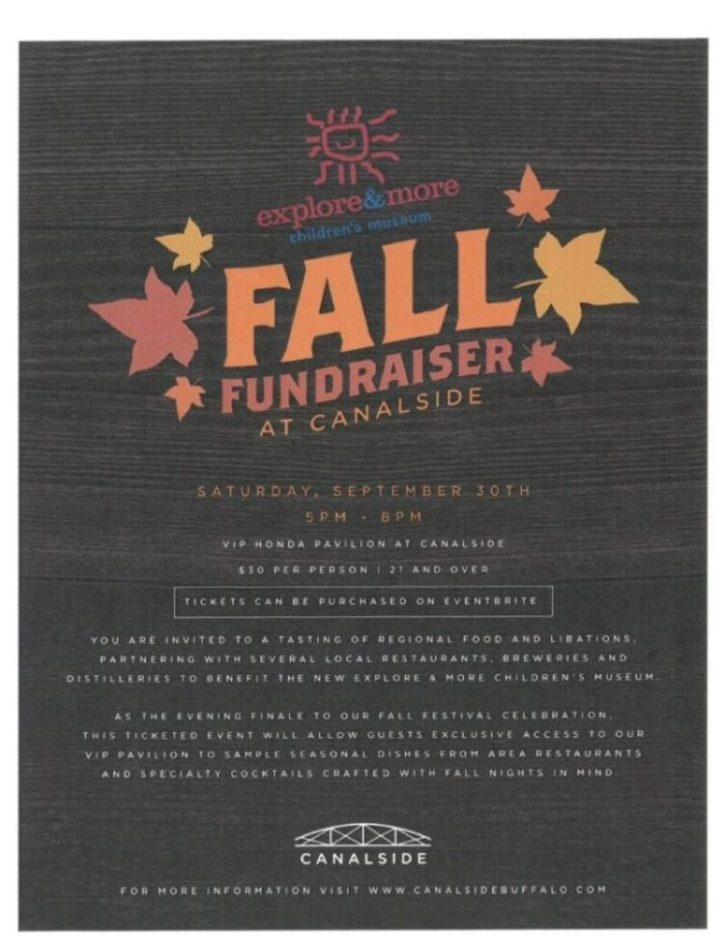 Fall Fundraiser at Canalside