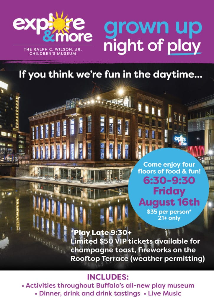 Grown Up Night of Play Friday August 16th 6:30-9:30