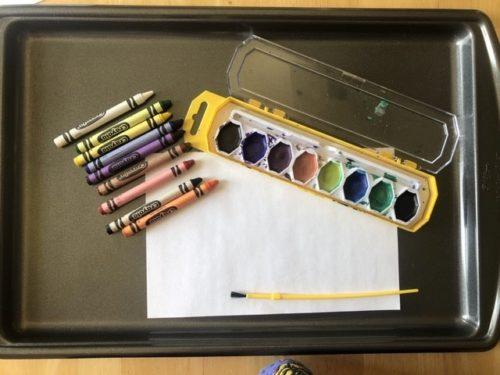 Sanity Savers: Crayon Resist Space Painting