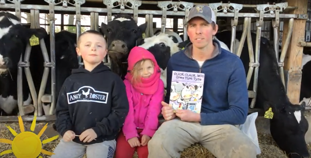 Storytime: Farmer Mike reads Click, Clack, Moo Cows That Type