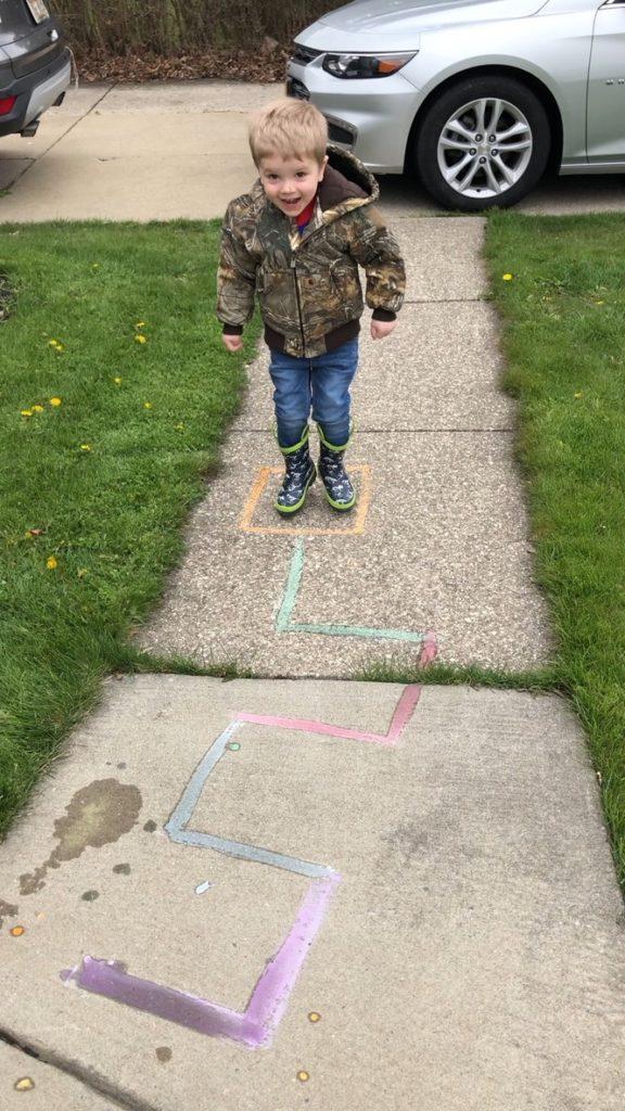 Sanity Savers: Shape Balance with Sidewalk Chalk Paint