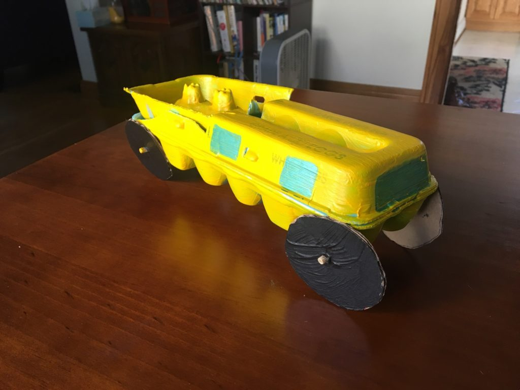 Sanity Savers- Find a Truck Edition: Egg Carton Dump Truck