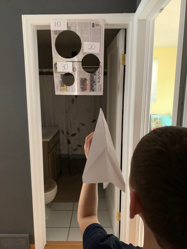 Sanity Saver: Paper Airplane Toss Game